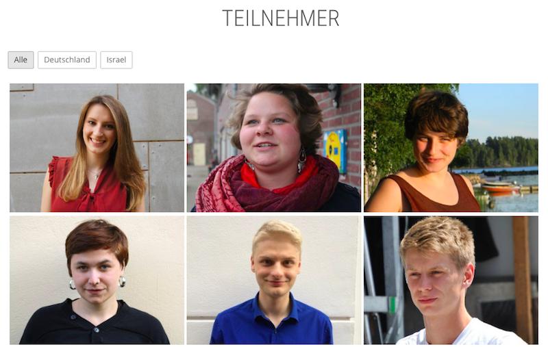 Einige der teilnehmenden Jugendlichen aus Deutschland und Israel
