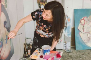 Atelierbesuch bei Malerin Egle Otto