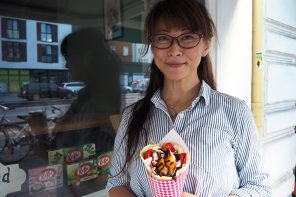 Miyuki Inoue macht japanische Crêpes in Hamburg