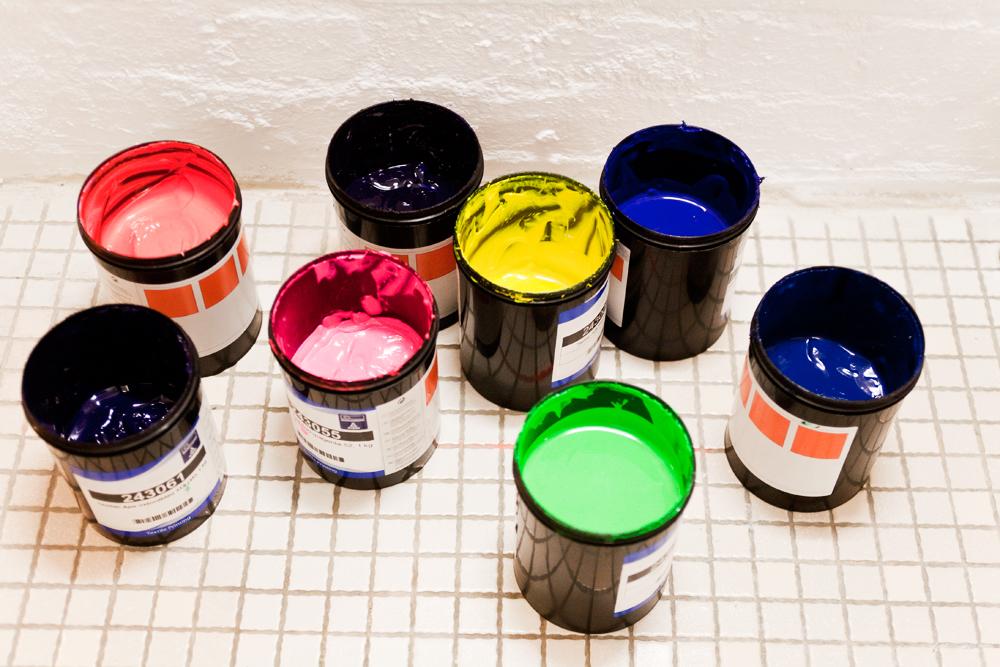 Neonfarben-Siebdruck