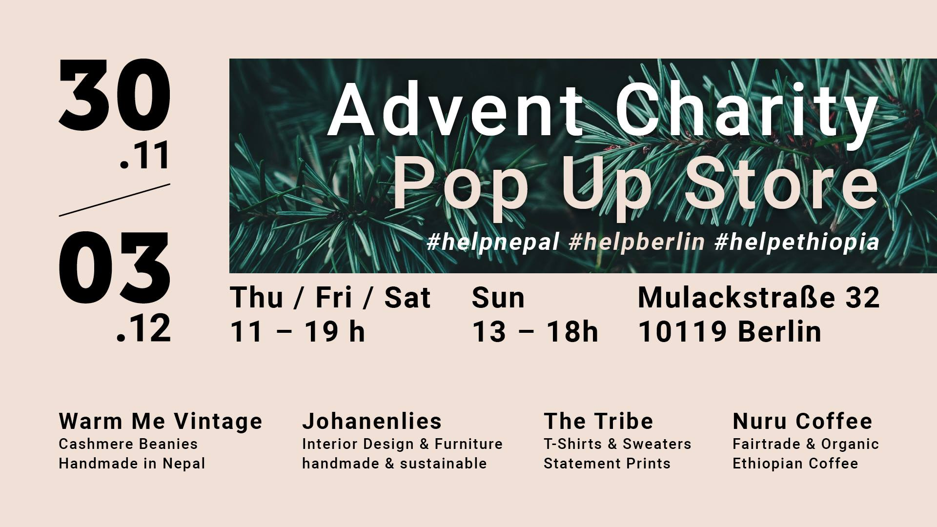 Advent Charity Pop-up Store