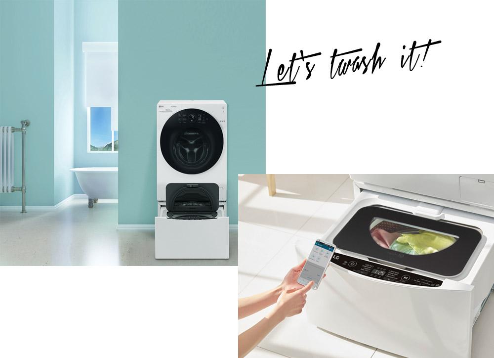 Mit der LG TWINWash kann man zwei Ladungen Wäsche gleichzeitig waschen!