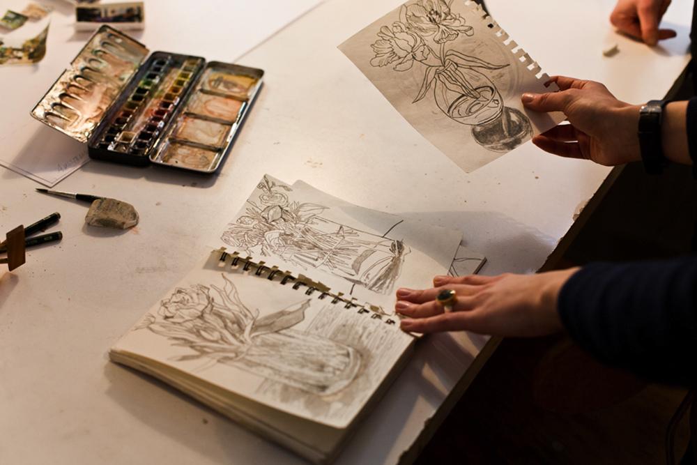 Femtastics-Clara-Dittmer-Kunst-Skizzenbuch