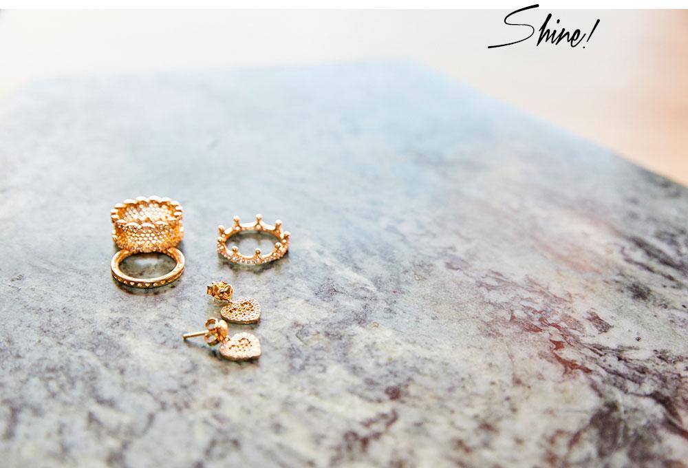 Femtastics-PANDORA-Shine-Ringe-Ohrringe-Gold