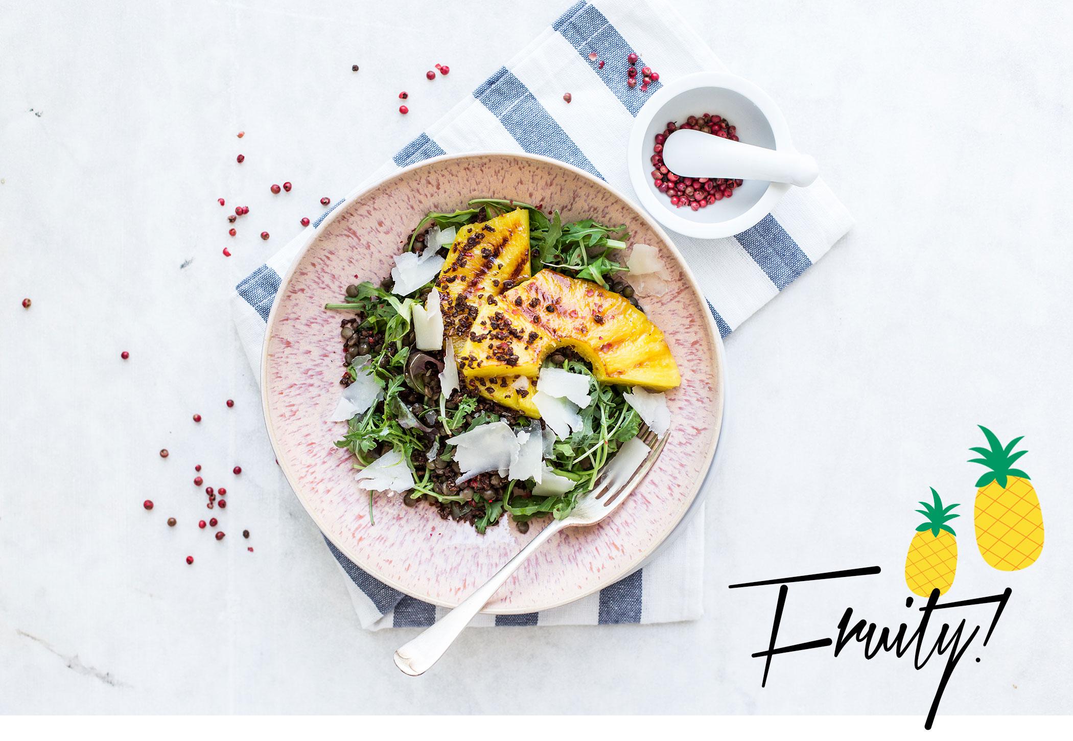 femtastics-gegrillte-Ananas-Ziegenkaese-Salat