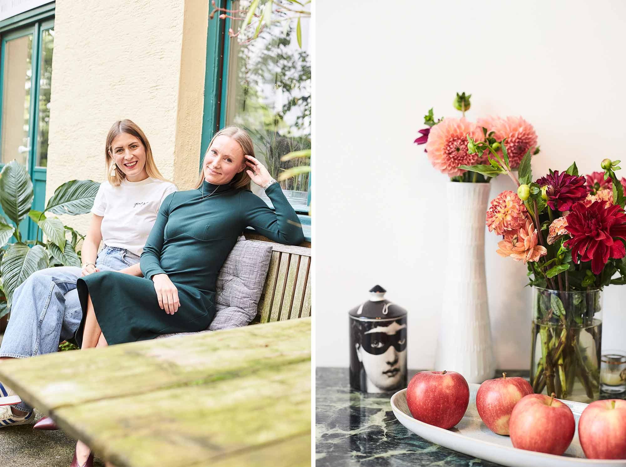 Alexandra mit femtastics-Autorin Friederike Weinert.