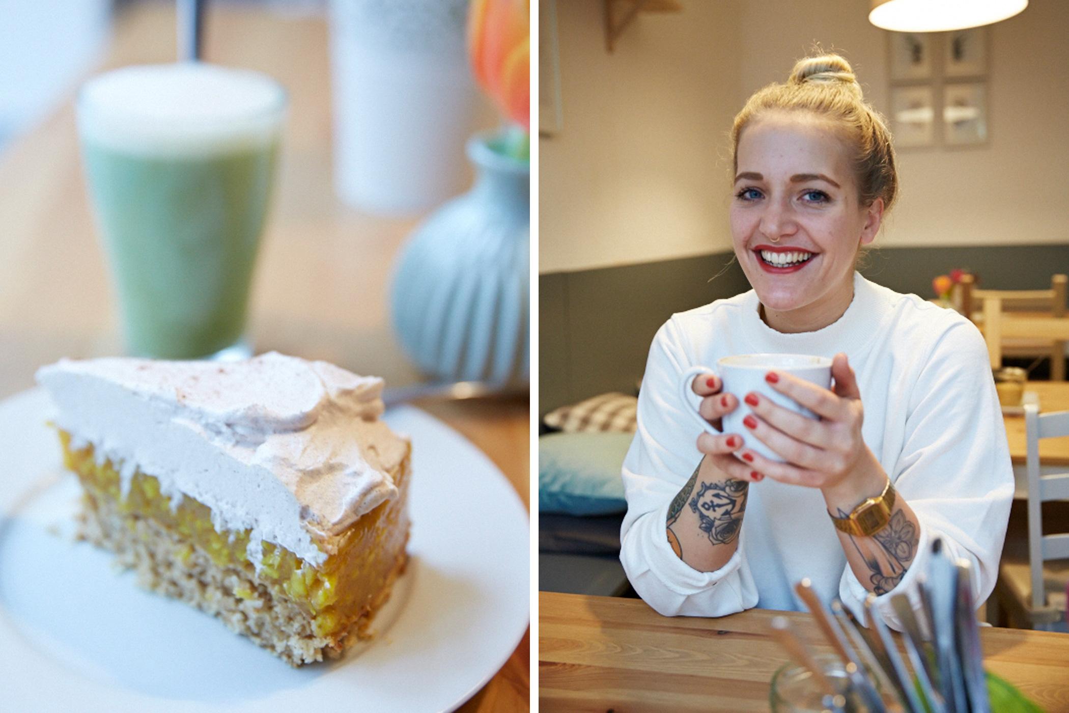 Seit Anfang 2016 führt Catharina das vegane Café Happen Pappen – zuerst in Hamburg-Eimbüttel, mittlerweile am neuen Standort auf St.Pauli. Credit: Linda David