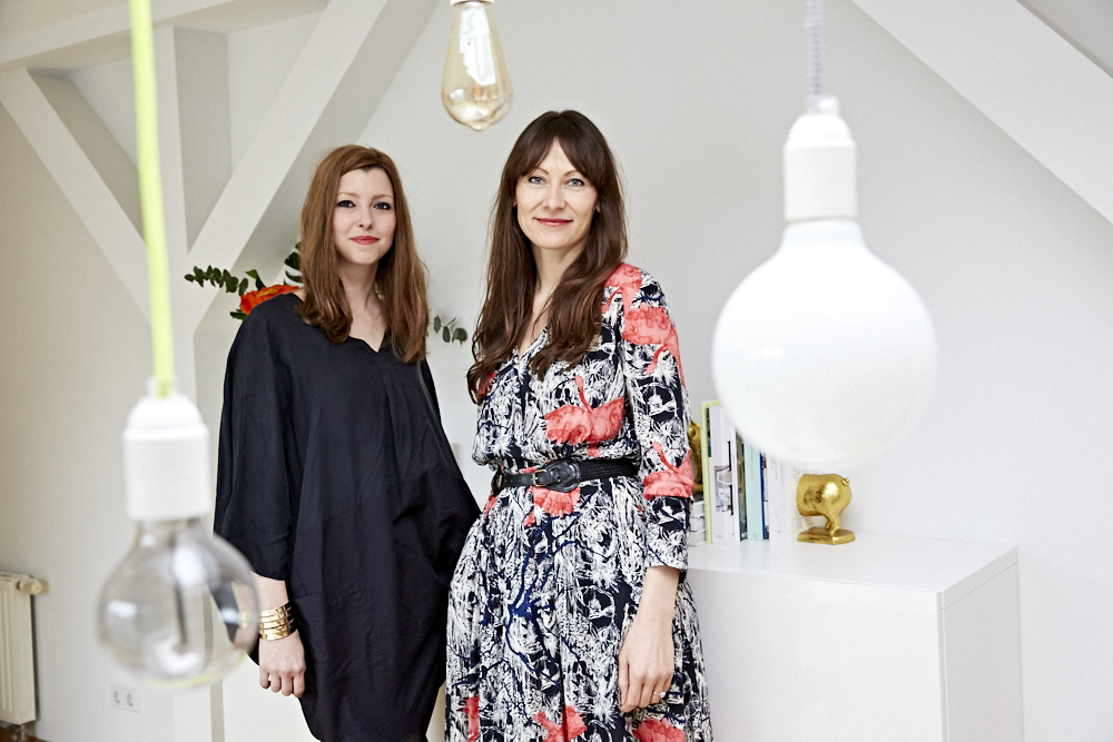 Silke Voigtländer und Julia White führen zusammen ein Interior Design Service. Credit: Sophia Lukasch