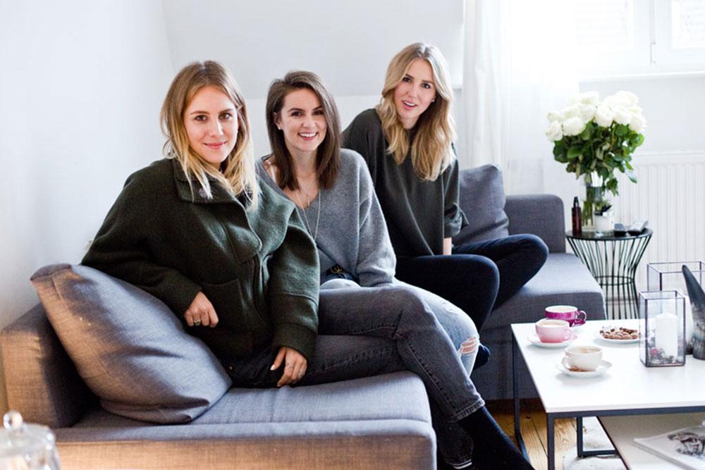 Kira, Maike und Sonja sind beste Freundinnen und haben gemeinsam den Modeblog Shoppisticated ins Leben gerufen. Credit: Sophia Mahnert