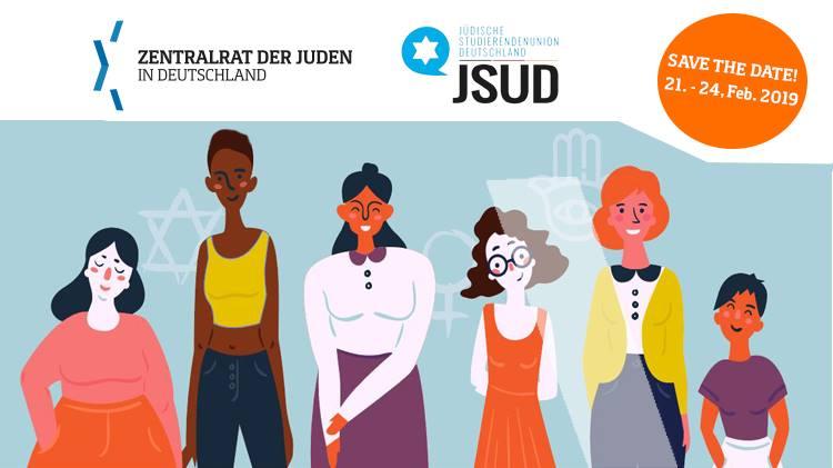 """Die """"Jewish Women empowerment summit"""" gibt jungen Jüdinnen die Möglichkeit des gemeinsamen Austauschs. (Grafik: JSUD & Zentralrat der Juden in Deutschland)"""