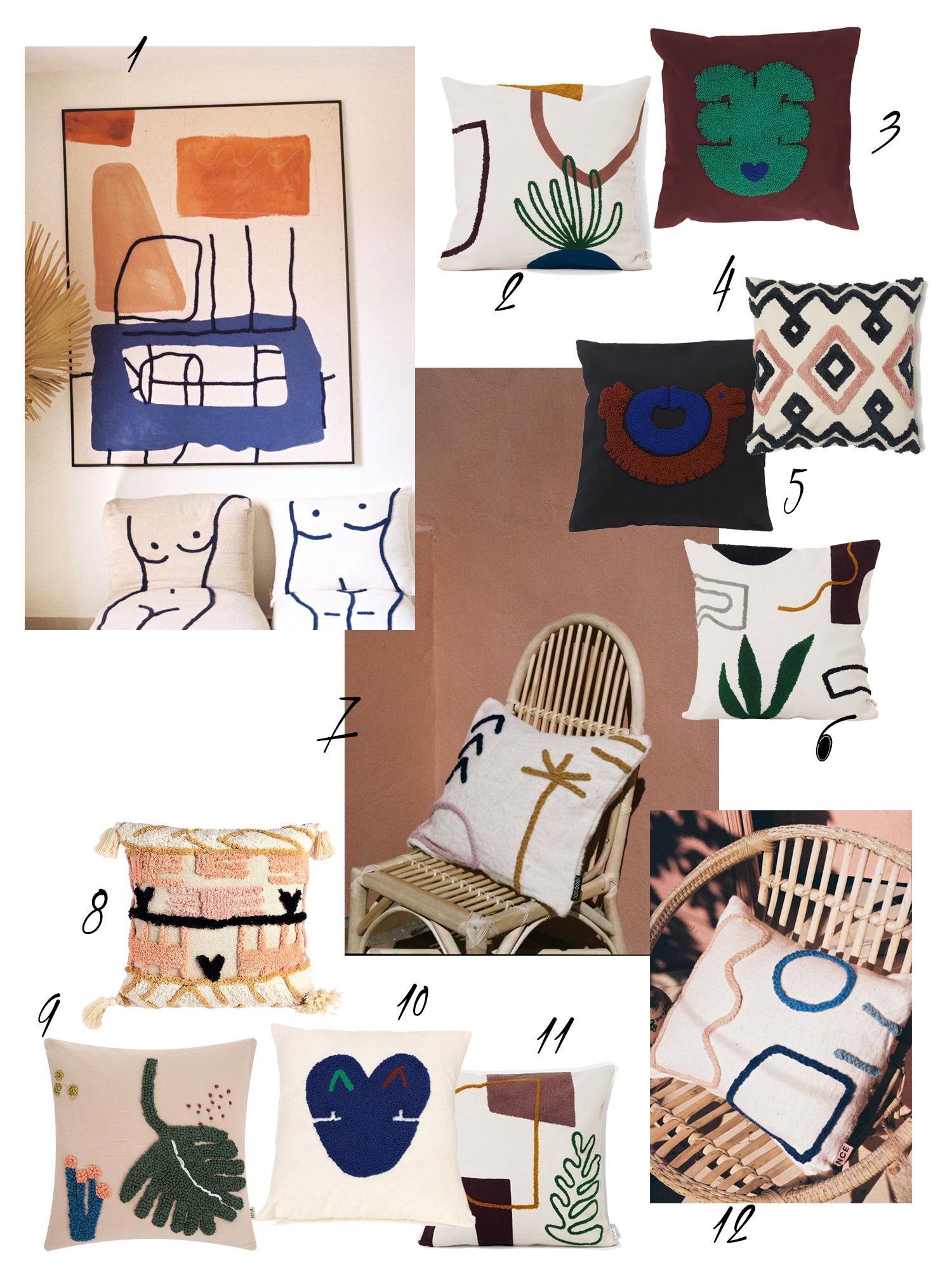 Femtastics Interior Trends Kissen Collage