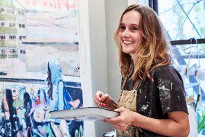 Mit der Familie nach Brooklyn ausgewandert: Künstlerin Katja Holtz